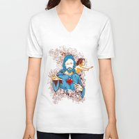 jesus V-neck T-shirts featuring Jesus  by Tshirt-Factory