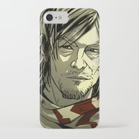 daryl iPhone & iPod Cases featuring Daryl Dixon by David Cousens
