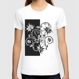 Abstract floral ornament T-shirt