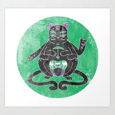 Zen Cat Art Print