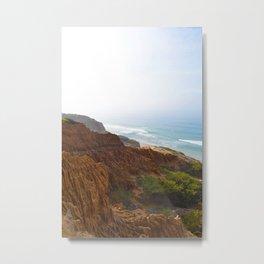 Sand Stone and Ocean Metal Print