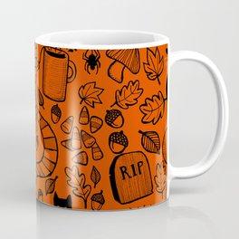 October Pattern- Black & Orange Coffee Mug