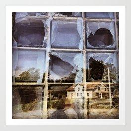 House Reflected in a Broken Window Art Print