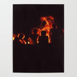 Silhouettes on Fire Poster