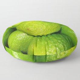Zesty Limes - Vectorized Photographic Image  Floor Pillow