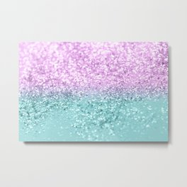 Mermaid Girls Glitter #2 #shiny #decor #art #society6 Metal Print