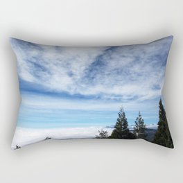 Cloudy Day in Lake Arrowhead Rectangular Pillow