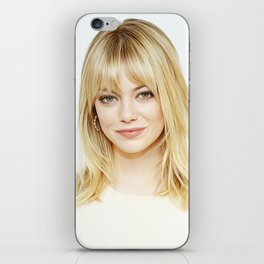 Emma Stone - Realistic Painting iPhone Skin