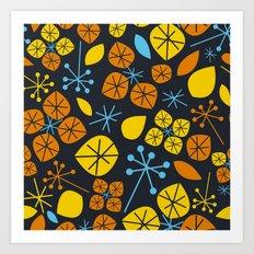 Leaf Scatters Art Print