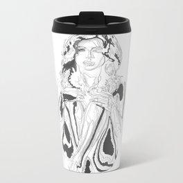 Queen of Clubs Metal Travel Mug
