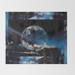 Blue Reflections Bubble Throw Blanket