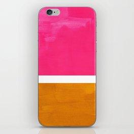 Magenta Yellow Ochre Rothko Minimalist Mid Century Abstract Color Field Squares iPhone Skin