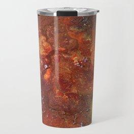 Mars mixed media on canvas, abstract artwork on canvas, close up photograph contemporary artist Travel Mug
