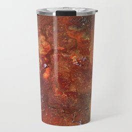 Mars mixed media on canvas, abstract artwork on canvas, close up photograph contemporary artist Travel Mug