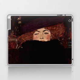 "Gustav Klimt ""Lady with Hat and Feather Boa"" Laptop & iPad Skin"
