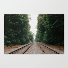 New England Railroad Tracks - 35mm Film Canvas Print