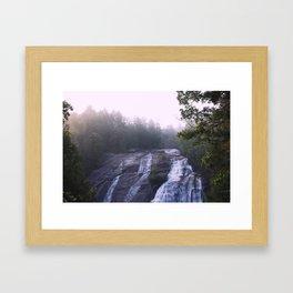 Waterfall & Fog Framed Art Print