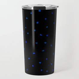 Blue Black Watercolor Dots Travel Mug