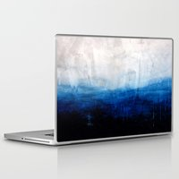 ocean Laptop & iPad Skins featuring All good things are wild and free - Ocean Ombre Painting by Prelude Posters