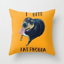 Round Hound Throw Pillow