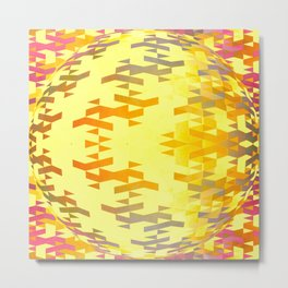 Geospherical (yellow) Metal Print
