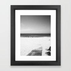 Toora Beach Black and White Framed Art Print