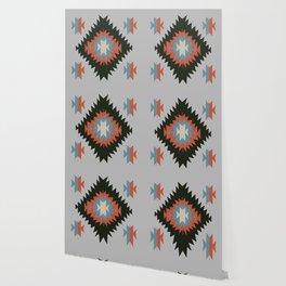 Southwestern Santa Fe Tribal Indian Pattern Wallpaper