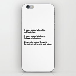 If you see #quotes iPhone Skin