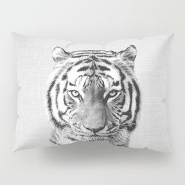 Tiger - Black & White Pillow Sham