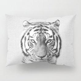 Tiger - Black & White Pillow Sham