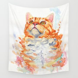Bright Cat Painting Wall Tapestry
