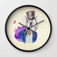 hamster Wall Clocks featuring hamster by Amit Shimoni