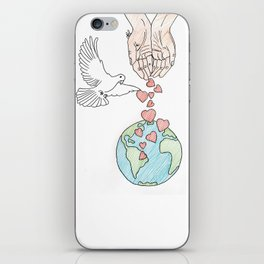 Peace, love & kindness iPhone Skin