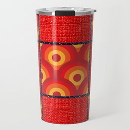 Red Vinyl Print Travel Mug