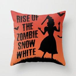 Halloween Zombie Snow White Humor Horror Throw Pillow