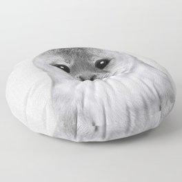 Baby Seal - Black & White Floor Pillow