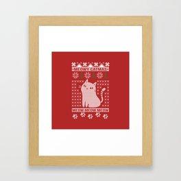 MEOWY CATMAS Framed Art Print