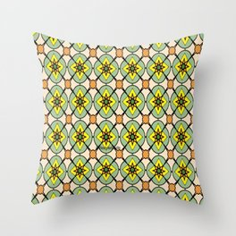 Green X O Throw Pillow