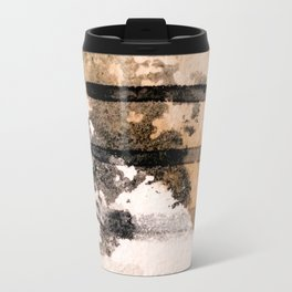Desert Musings - a watercolor and ink abstract in gray, brown, and black Travel Mug
