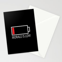 Morale is Low Stationery Cards