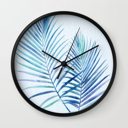 Feathery Palm Leaves Wall Clock