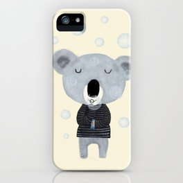 koala bubbles iPhone Case