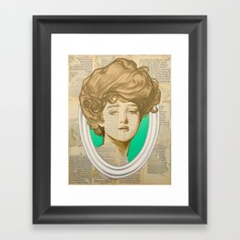Gibson Girl Green Framed Art Print