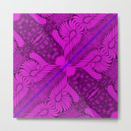 Diagonal Abstract Psychedelic Doodle 10 Metal Print