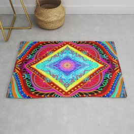 losange-geometry-baby art-bright colors-joy and energy-imagination-nursery art-hand painted Rug