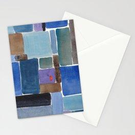 Blue squares, carrés bleus Stationery Cards