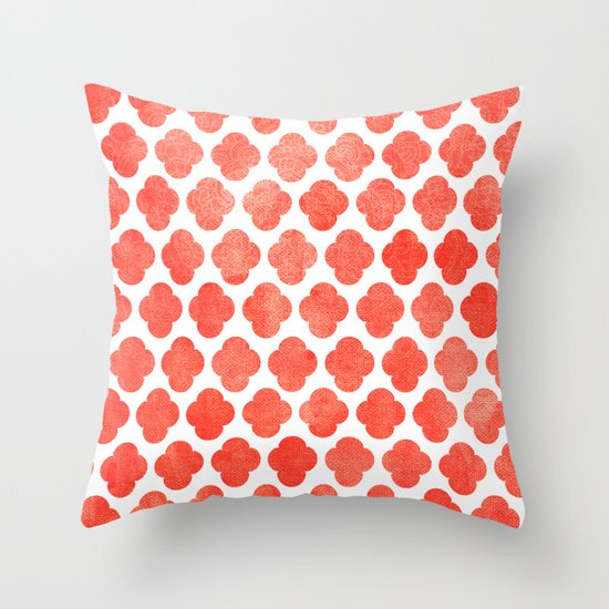 Throw Pillows Malum : Moroccan Blush Throw Pillow by Tangerine-Tane Society6