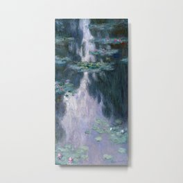 monet water lilies colorful Metal Print