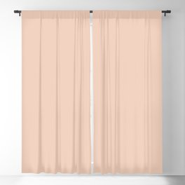 From The Crayon Box – Desert Sand Light Pastel Peach Solid Color Blackout Curtain