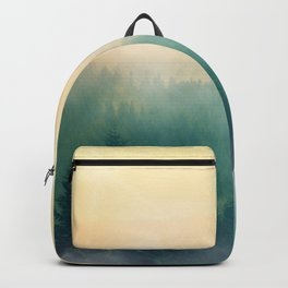Foggy Forest Mountain Sunrise (Color) Backpack